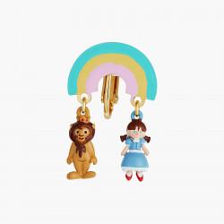 Boucles D'oreilles Originales Boucles d'oreilles clips asymétriques l'insensible homme de fer et l'épouventail et le lion per...