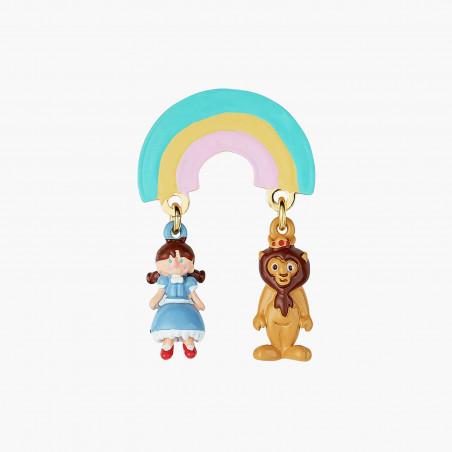 Poppy's head earrings