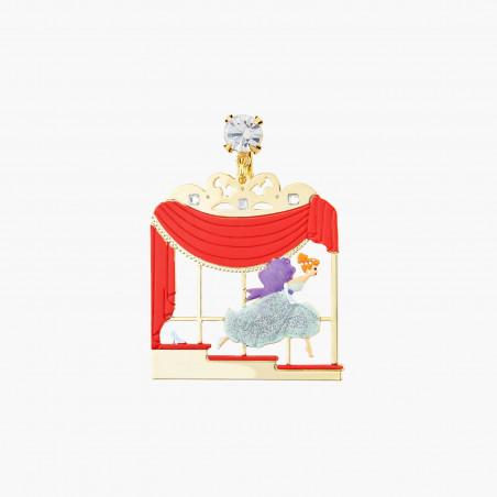 Bracelet pierre ronde bleu givré