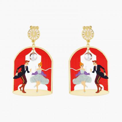 Boucles D'oreilles Originales Boucles d'oreilles tiges cendrillon et prince85,00€ AOCE103T/1N2 by Les Néréides