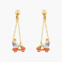 Boucles D'oreilles Originales Boucles d'oreilles clip cendrillon et scooter-citrouille75,00€ AOCE105C/1N2 by Les Néréides