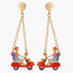 Boucles D'oreilles Originales Boucles d'oreilles tiges cendrillon et scooter-citrouille75,00€ AOCE105T/1N2 by Les Néréides