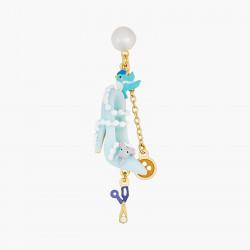 Boucles D'oreilles Originales Boucles d'oreilles tiges perle, soulier, oiseau, bouton, ciseau, perles et souris80,00€ AOCE10...