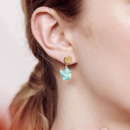 Boucles d'oreilles clip petite pierre ronde rouge vermillon