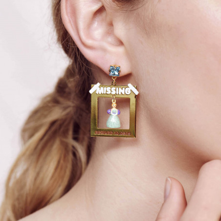 Sparkling pink toe-dancing ballerina clip earrings