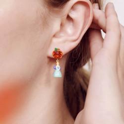 Boucles D'oreilles Originales Boucles d'oreilles clip citrouille et cendrillon70,00€ AOCE116C/1N2 by Les Néréides