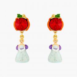 Boucles D'oreilles Originales Boucles d'oreilles tiges citrouille et cendrillon70,00€ AOCE116T/1N2 by Les Néréides