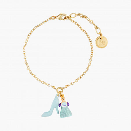Ballerina paved with turquoise blue matt crystals necklace