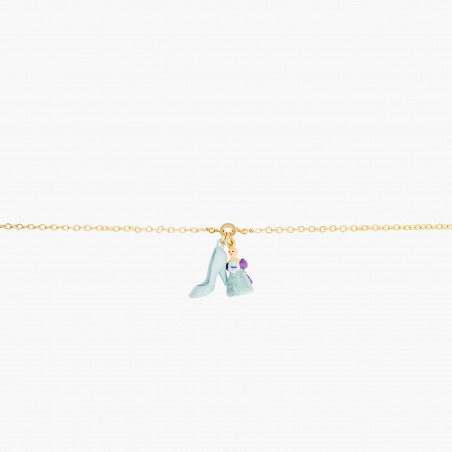 Toe-dancing ballerina paved with turquoise blue matt crystals earrings
