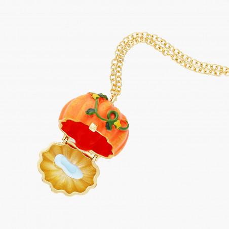 Toe-dancing ballerina paved with orange matt crystals earrings