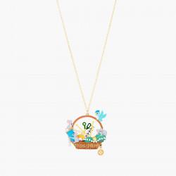 Colliers Originaux Collier sautoir souris, bobine de fil, ciseau, oiseau, perles, mètre de couturière, aiguilles et laine80,0...