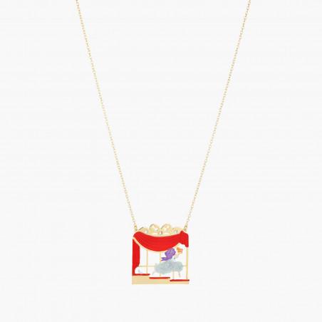 Bracelet chanceux pierre orange et petit trêfle à quatre feuilles