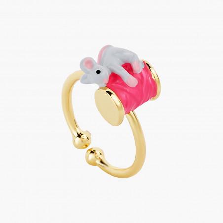 Nude pink toe-dancing ballerina earrings