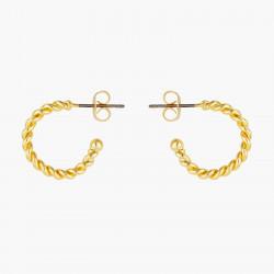 Twisted hoops post earrings