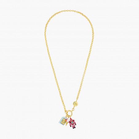 Nude pink ballerina necklace