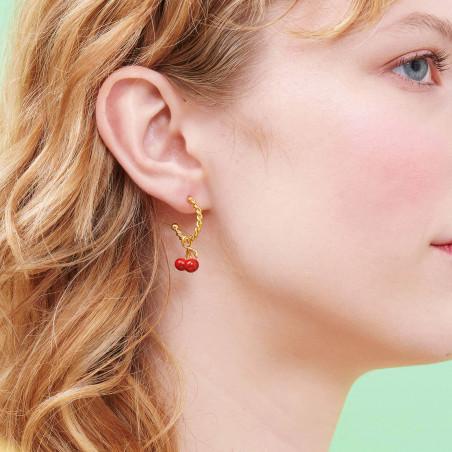 Clip Asymmetric Earrings PAS DE DEUX Faceted Glass MIDNIGHT BLUE