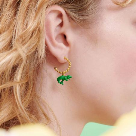 Hook Earrings PAS DE DEUX Ballet Shoe NUDE PINK