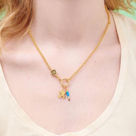 Necklace 55cm PAS DE DEUX LUXE rhinestones AURORA BLUE