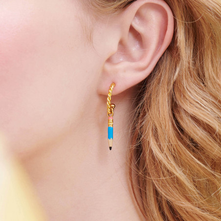 Necklace 44+5cm PAS DE DEUX LUXE rhinestones AURORA BLUE