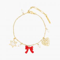 Bracelets Charms Bracelet charm's étoile, nœud rouge et cœur95,00€ AOCN202/1Les Néréides