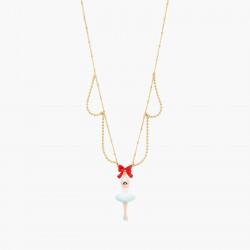 Colliers Pendentifs Collier pendentif ballerine et nœud rouge120,00€ AOCN305/1Les Néréides