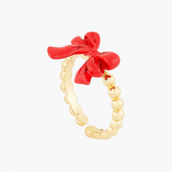 Red Bow adjustable ring