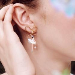 Boucles D'oreilles Clip Boucles d'oreilles clip asymétriques pas de deux aurore boréale avec nœud90,00€ AODD108C/1Les Néréides