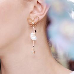 Boucles D'oreilles Tiges Boucles d'oreilles tiges asymétriques pas de deux aurore boréale avec nœud90,00€ AODD108T/1Les Néré...