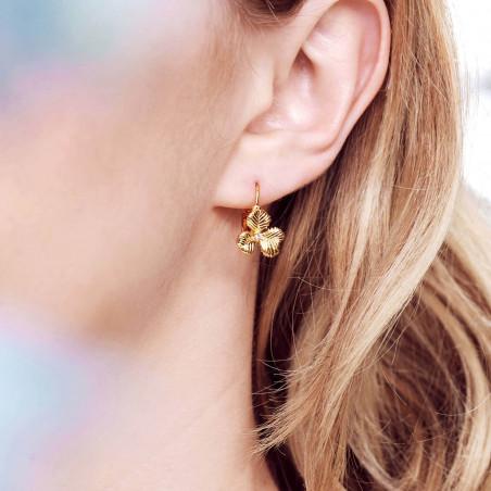 Boucles d'oreilles cœur corail