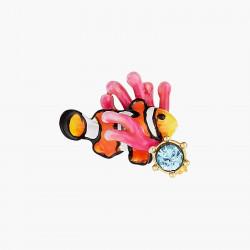 Bracelet perlé cœur corail et pampille Love