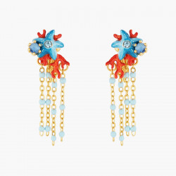Blue Starfish and Red Coral...