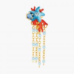 Bracelet perlé médaille Love et petits cœurs