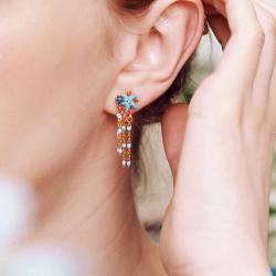Collier de perles corail et pendentif cœur