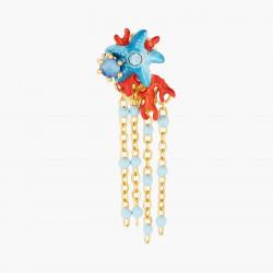 Boucles D'oreilles Pendantes Boucles d'oreilles pendantes tiges étoile de mer bleu et corail rouge110,00€ AOGL102T/1Les Néré...