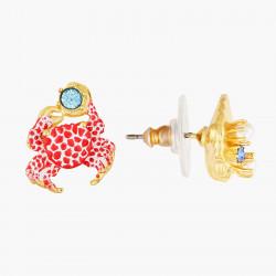 Boucles D'oreilles Tiges Boucles d'oreilles asymétriques tiges coquillage et crabe écarlate95,00€ AOGL104T/1Les Néréides