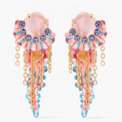 Boucles D'oreilles Pendantes Boucles D'oreilles Pendante Tige Méduse Coloré Et Cristaux Taillés Bleus195,00€ AOGL106T/1Les N...