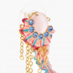 Boucles D'oreilles Pendantes Boucles d'oreilles pendantes tiges méduse colorée et cristaux taillés bleus195,00€ AOGL106T/1Le...