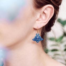 Boucles D'oreilles Pendantes Boucles D'oreilles Hook Raie Aigle Bleue Constellée180,00€ AOGL107H/1Les Néréides