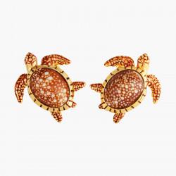 Boucles D'oreilles Tiges Boucles d'oreilles tiges tortues aux carapaces mouchetées150,00€ AOGL108T/1Les Néréides