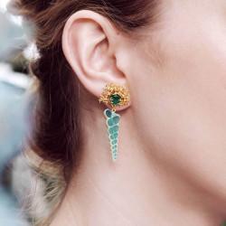 Boucles D'oreilles Pendantes Boucles d'oreilles tiges intérieur de coquillage et corail doré110,00€ AOGL110T/1Les Néréides