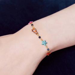 Bracelets Fins Bracelet fin poisson-clown coraux et étoiles de mer140,00€ AOGL202/1Les Néréides