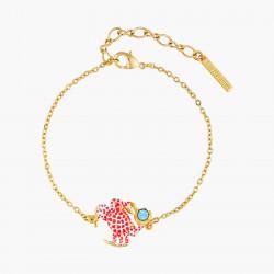 Bracelets Fins Bracelet fin crabe écarlate et son cristal taillé bleu80,00€ AOGL203/1Les Néréides
