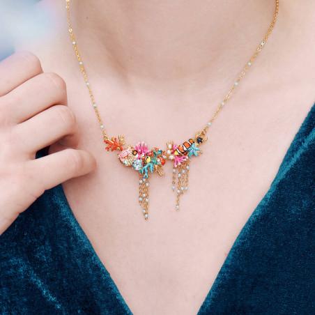 38+4cm Necklace ROSE DES NEIGES