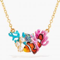 Colliers Plastrons Collier pendentif poisson-clown anémone et pierre bleue110,00€ AOGL302/1Les Néréides