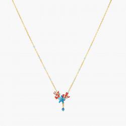 Colliers Plastrons Collier pendentif étoile de mer bleue et corail rouge120,00€ AOGL303/1Les Néréides