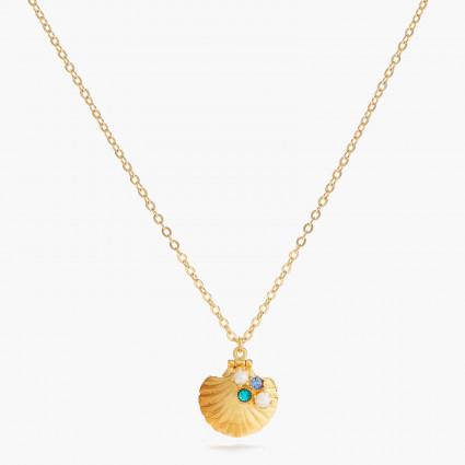 Colliers Pendentifs Collier pendentif médaillon coquillage et son crabe écarlate140,00€ AOGL304/1Les Néréides