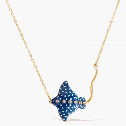 Colliers Plastrons Collier Pendentif Raie Aigle Bleue Constellée140,00€ AOGL307/1Les Néréides