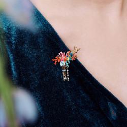 Collier scarabée et verres taillés