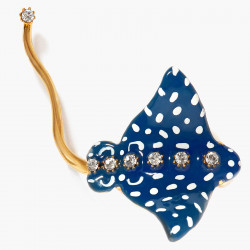Speckled Blue Eagle Ray Brooch