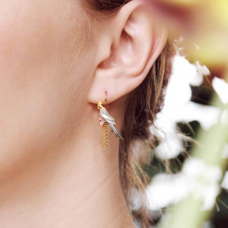 Boucles d'oreilles écureuil et petit cœur